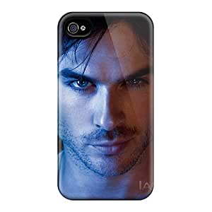 Bumper Hard Cell-phone Case For Iphone 4/4s (mvB17565NzUe) Support Personal Customs Colorful Ian Somerhalder Series