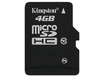Kingston SDC10/4GBSP - Tarjeta microSD de 4 GB (Clase 10, UHS-I ...