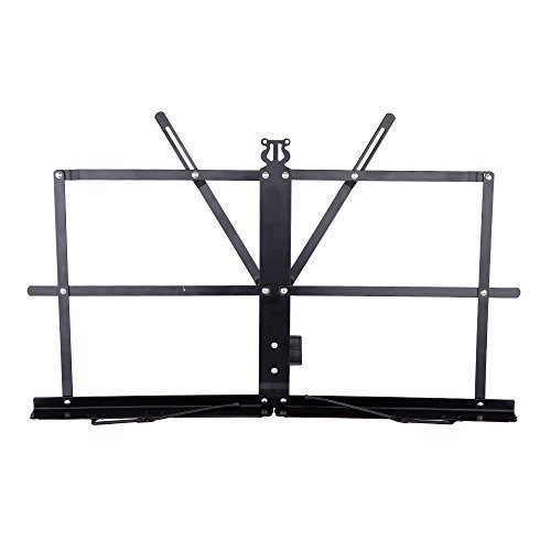 Anoder Tabletop Music Stand Metal Sheet Music Holder Folding Foldable (Keyboard Stand With Music Holder)