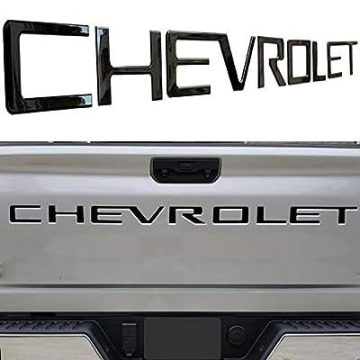 KENPENRI Tailgate Insert Letters for 2020 2020 Chevrolet Silverado - 3M Adhesive & 3D RaisedTailgate Letters - Gloss Black: Automotive