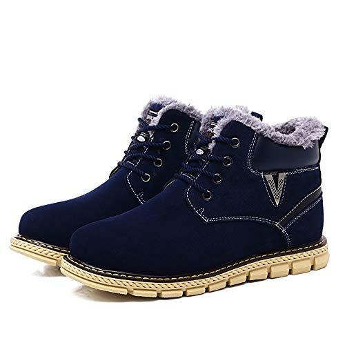 Azul La boots De Hombres Caseros Ocasionales 42 Zapatos Invierno Imitación Tamaño Botas Simples Yajie color Con Nieve Los Cordones Moda Azul Para Dentro Eu XqgSCwd