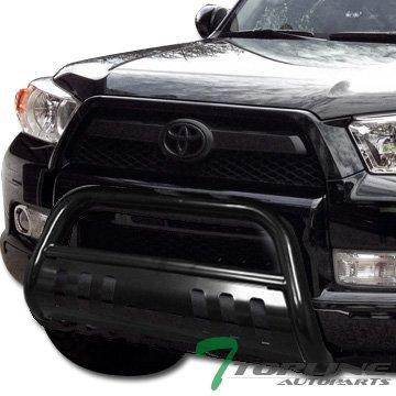 Topline Autopart Black HD Heavyduty Bull Bar Brush Push Front Bumper Grill Grille Guard w/ Skin Plate 10-16 Toyota - Bully Brush Guard