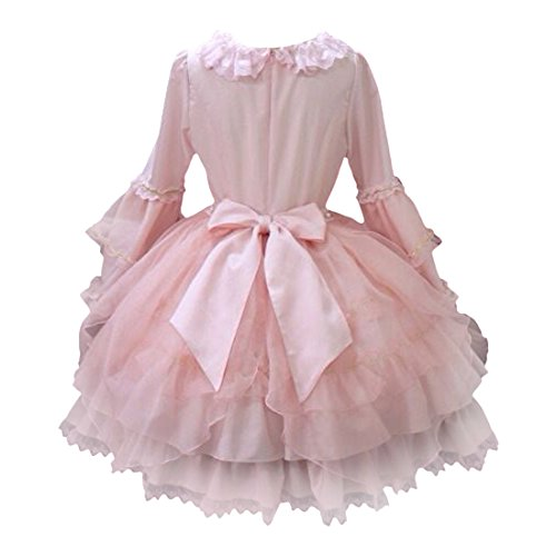 Rock Rosa Kleid Cosplay Kleid Partiss Damen Lolita Klassisches Prinzessin 1gqTwgXn8f