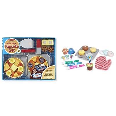Melissa & Doug Cupcake Set & Pancake Set Bundle: Toys & Games
