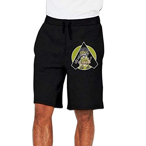 Kinggo Men's Design Octane Apex Legends Cool with Pockets Short Sports Shorts Pants Black M ()