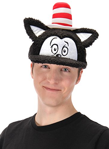 Dr. Seuss Cat in The Hat Costume Fuzzy Cap