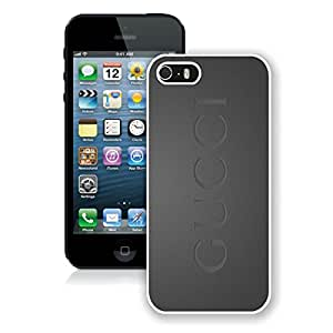 New Antiskid Designed Cover Case For iPhone 5S With Gucci 19 White Phone Case