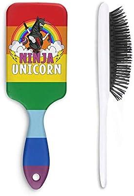 Amazon.com : Unisex Detangle Hair Brush Ninja Unicorn with ...