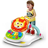 SAJANI Baby's 4 in 1 Lion Entertainer Activity Walker Sounds Seat (Multicolour)