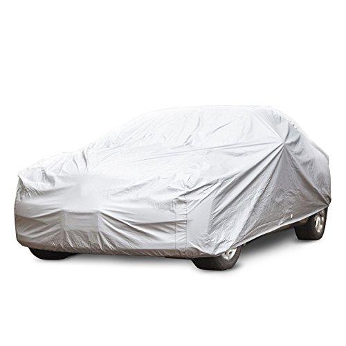 Autoabdeckung Vollgarage für Winter & Sommer | silber | passende Größe wählbar (Größe M: 431x165x119cm)