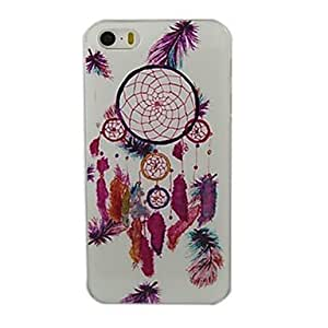 LZX Multicolour Feather Campanula Design Pattern Hard Case for iPhone 5/5S