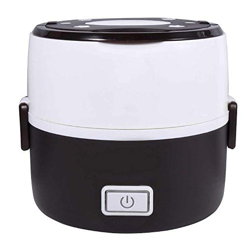 Ice Maker Stainless Steel Toe - 220V 200W 2 Layers Electric Heated Lunch Box Set Multifunctional Food Warmer Mini Rice Cooker Warmer for Students Dormitory