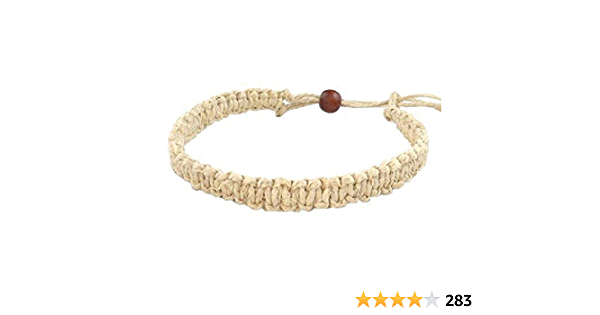 Palm tree bracelet or anklet-made to order pick your hemp cord color /& size