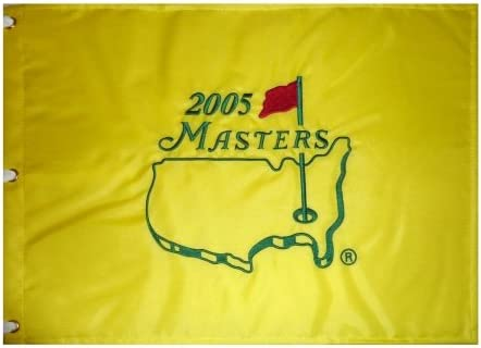 B009PIFTM2 2005 Masters Embroidered Golf Pin Flag - Tiger Woods Champion, Jack Nicklaus Final 416i803vYKL.