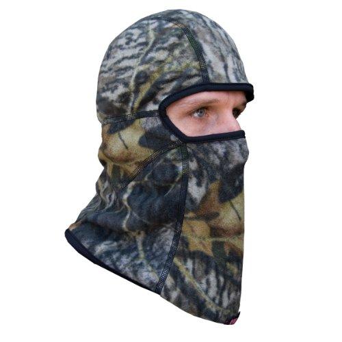 Heat Factory Deluxe Fleece Balaclava Face Mask with 5 Hand Heat Warmer Pockets, Mossy Oak