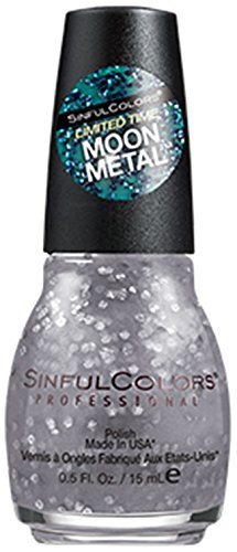 Sinful Colors Nail Polish Limited Edition Moon Metal Collection #2249 Cherish Me (Pewter Glitter)