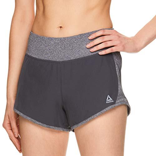 Reebok Women's Athletic Workout Shorts - Gym Training & Running Short - 3 Inch Inseam - Bravo Bravo Medium Grey, ()