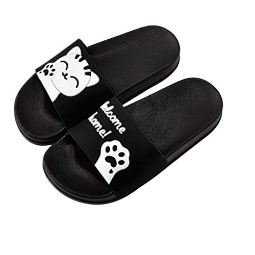 Lolittas Womens Ladies Cute Cat Slippers for Parents and Babies RrnqQpK1e