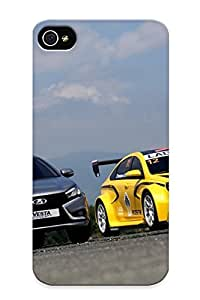 Defender Case For Iphone 4/4s, 2015 Lada Vesta Concept Wtcc Race Racing Pattern, Nice Case For Lover's Gift