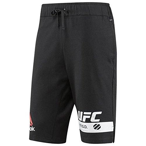 (Reebok Men's UFC Fg Shorts, Black,)
