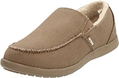 crocs Men's Santa Cruz Lounger Slip-On,Khaki,7 M US