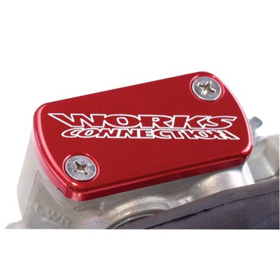 (Works Connection Front Brake Reservoir Cap Red for Kawasaki KX250 1993-2007)