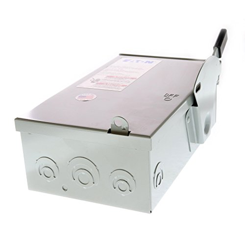 Eaton Cutler-Hammer DG321NRB Fusible Safety Switch, NEMA-3R, 30A, 240V, 4-Wire by Cutler & Hammer (Image #3)