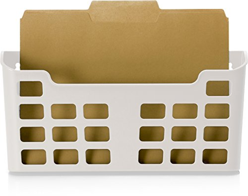 Officemate MagnetPlus Magnetic Letter Size File Pocket, White (92543) - Magnetic Triple File Pocket