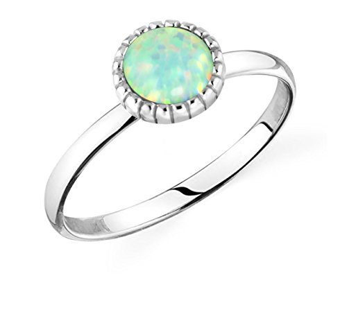 .925 Sterling Silver Synthetic Opal Knuckle Ring, Mermaid Tail