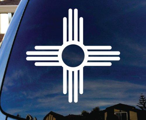 "New Mexico Symbol Car Window Vinyl Decal Sticker 4"" Wide"