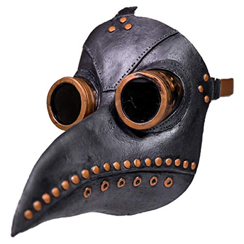 Dr Plague Mask PU Leahter Adjustable Face Mask Adult Halloween Cosplay Costume Accessory Prop C