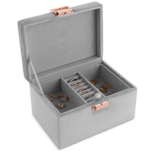 Beautify Velvet Jewelry Box Jewelry Organizer and Storage