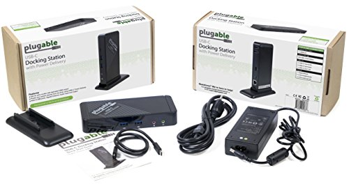 Plugable USB-C Docking Station for Specific Windows, Retina MacBook, Chromebook, and Linux USB-C and Thunderbolt 3 Systems (4K@30Hz/1080P@60Hz HDMI, 60W Charging on Supported Systems) by Plugable (Image #4)
