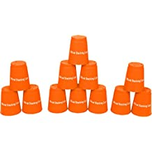 Trademark Innovations Quick Stack Cups, Speed Training Sports Stacking Cups, Set of 12, Orange