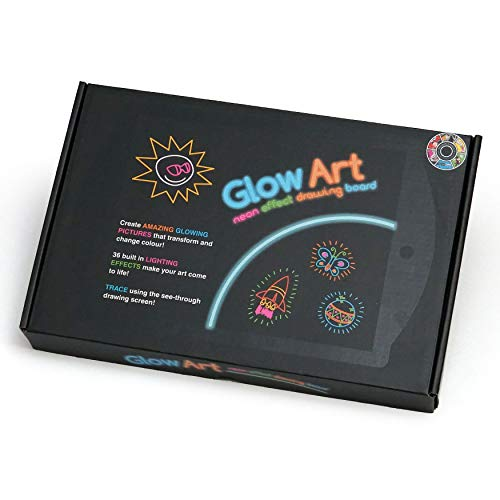 Marvin's Magic Glow Art Neon Effect Drawing Board - Black