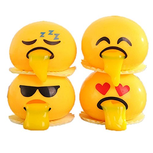 1PC Random Novelty Emoji Face Squeeze