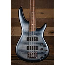Ibanez SR300E Electric Bass Guitar (Black Planet Matte)