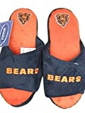 Chicago Bears official NFL 2011 Open Toe Two Tone size small Hard Sole Slippers