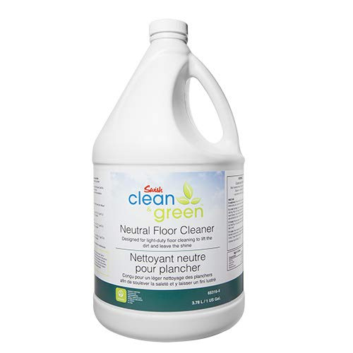 - Swish Clean & Green Neutral Floor Cleaner, Daily Routine, Lifts Dirt, Leaves Shine, No Rinse, Enhances and Restores Floors, Tile, Terrazzo, Granite, Marble, and More! 1 Gallon - Ecologo Certified