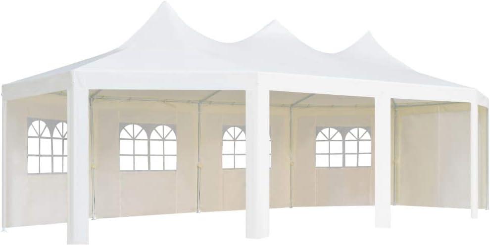vidaXL Gazebo 834x448x320 cm Bianco Tenda da Party Giardino Tendone per Feste