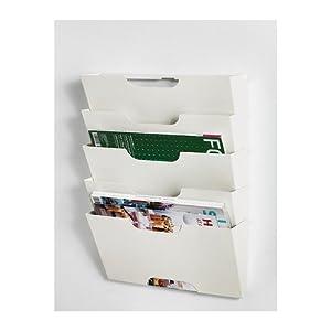 ikea kvissle 5 shelve metal wall magazine file rack white hanging wall files. Black Bedroom Furniture Sets. Home Design Ideas