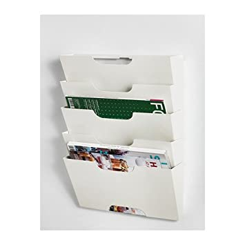 ikea kvissle 5 shelve metal wall magazine file rack white