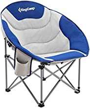 KingCamp Moon Saucer Leisure Heavy Duty Steel Camping Chair Padded Seat