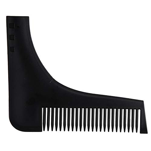 (Beard Shaping Template Comb Facial Hair Styling Perfect Lines Symmetry Tool (Color - Black))