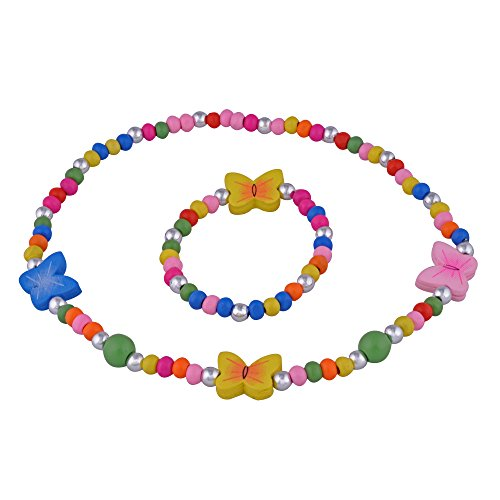 SmitCo LLC Little Girls Jewelry - Butterfly Stretch Necklace