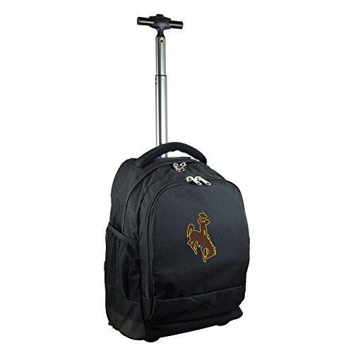 NCAA Wyoming Cowboys Expedition Wheeled Backpack, 19-inches, Black