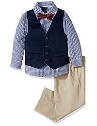 Nautica Boys Twill Vest Set Suit