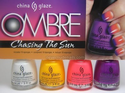 china glaze OMBRE Chasing The Sun - Ombre Nail Polish