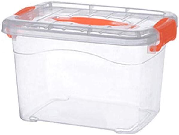 ERMEI Caja de Almacenamiento de plástico - Caja de Almacenamiento para el Carro de Juguete de Ropa Grande Transparente (2 por Paquete) 36 × 25 × 20 cm: Amazon.es: Hogar