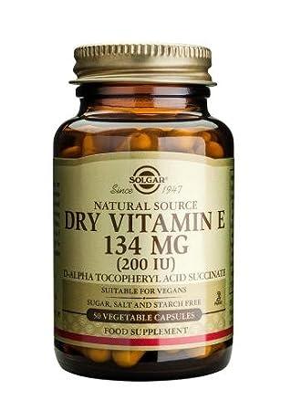 Solgar Dry Vitamin E 134 Mg (200 Iu) Vegetable Capsules, 50